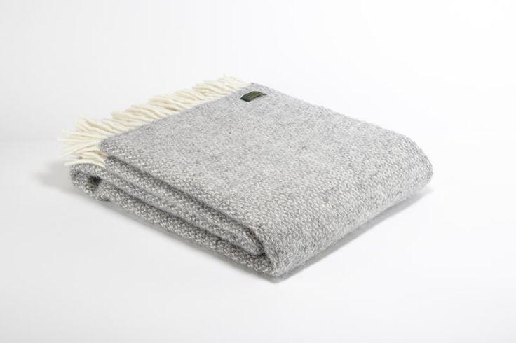 Plaids laine vierge Grey illusion - Tweedmill chez Storie  - 3