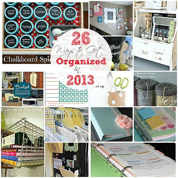 26 Ways to Help YOU Get Organized!! -- Tatertots and Jello: Craft, 26 Organizing Ideas Jpg, Cleaning Ideas, 2013, 26 Organizational, Organizational Ideas, Organization Ideas, Storage Ideas, 26 Ways