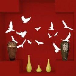 Σμήνος πουλιών,  αυτοκόλλητο τοίχου ,20,50 €,https://www.stickit.gr/index.php?id_product=482&controller=product