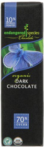 Endangered Species Butterfly, Organic Dark (70%) Chocolate, 1.4-Ounce Bars (Pack of 16) - http://bestchocolateshop.com/endangered-species-butterfly-organic-dark-70-chocolate-1-4-ounce-bars-pack-of-16/