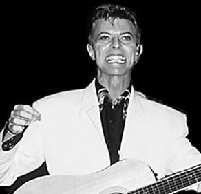 David Bowie (vocals, guitar, saxophone, keyboards; born January 8, 1947) David Bowie is rock's foremost futurist and a genre-bending pioneer, chameleon, and transformer. Inducted into Rock & Roll Hall of Fame in 1996.