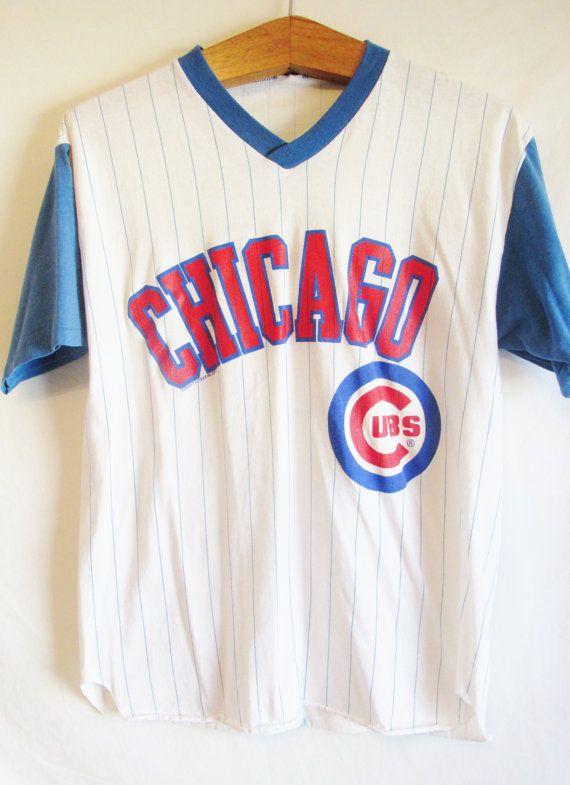 Vintage 1980's Retro Chicago Cubs Baseball  Tshirt by FreshtoDeathVintage, $29.00