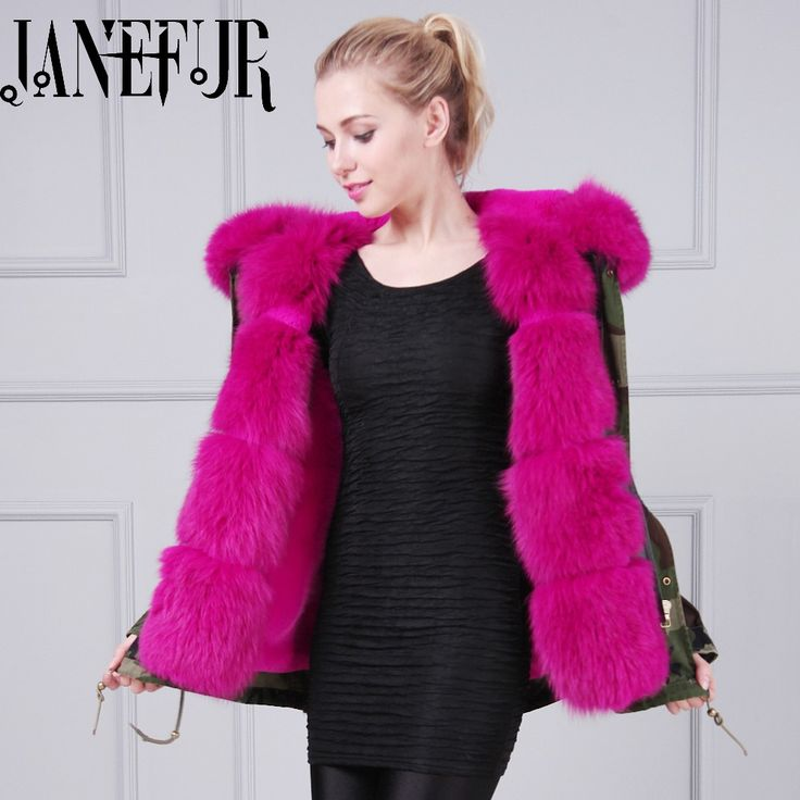 2016 New Autumn Winter Natural Fox Fur Collar Down Coats 2016 New Plus Size Casual Long Padded Parkas Casacos #Affiliate