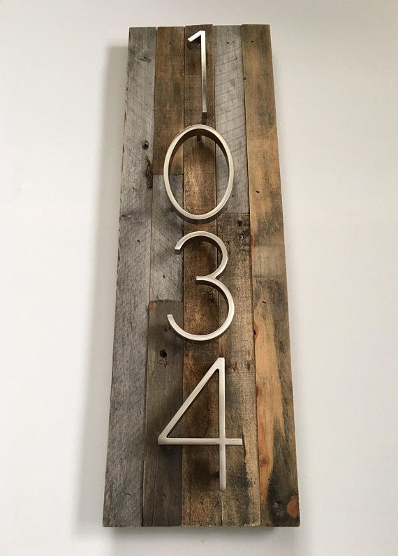 Custom House Numbers Sign Vertical Or Horizontal Rustic Etsy Rustic House Numbers House Numbers Diy Modern House Numbers Sign