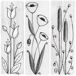Flower Sketch to transfer to glass work