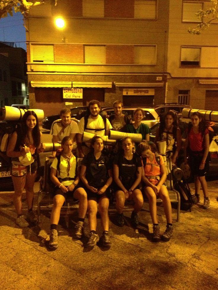 Travessa Manresa-Gosol. Tret de sortida. Bona sort i molta força. #alba #manresa #pedraforca  #gosol #2013 #mijac #coques