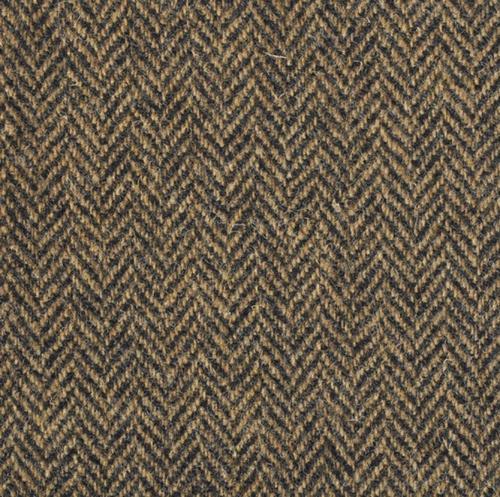 Brown Herringbone Harris Tweed