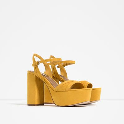 Image 2 of HIGH HEEL PLATFORM SANDALS from Zara