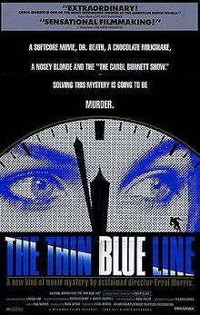 #netflix The Thin Blue Line is a 1988 documentary film by Errol Morris, depicting the story of Randall Dale Adams, a man convicted and sentenced to life in prison for a murder he did not commit. Adams' case was reviewed and he was released from prison approximately a year after the film's release.
