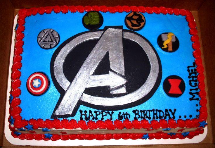 Avengers Themed Sheet Cake Avengers Superherocakes