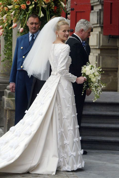 Mabel Wisse Smit at her 2004 wedding to Dutch Prince Johan Friso: From Princess Diana to Queen Letizia, take a look back at the evolution of royal bridal looks.