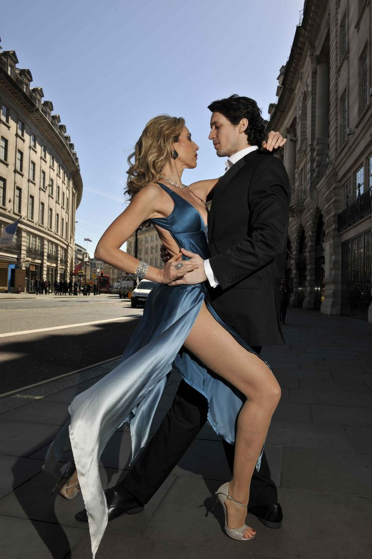 These tango dancers from Argentina were a sensation at the event.