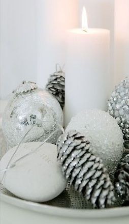 white + silver christmas decoration                                                                                                                                                                                 More