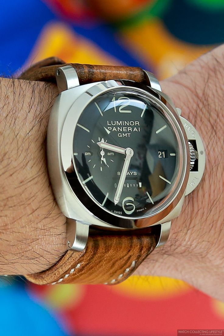 Panerai Luminor 1950 8 Days GMT. PAM 233. Super domed crystal.