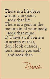 Look inside traveler by Rumi                                                                                                                                                                                 More