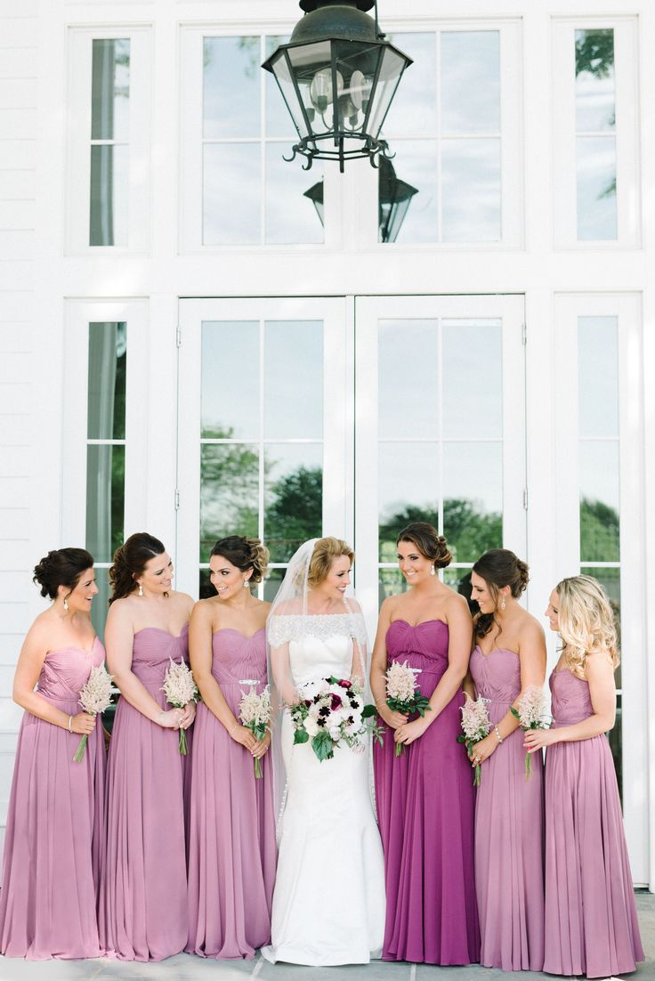 Bari Jay Long Mauve Chiffon Bridesmaid Dresses