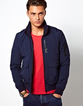 ASOS Funnel Bomber Jacket $81.54