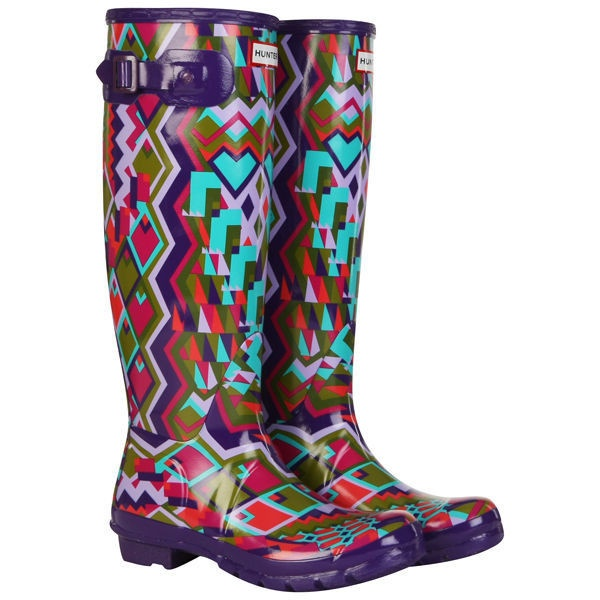 Hunter Wellies - Women's Original Hoxton Tall Boots - Multi Coloured ❤ liked on Polyvore