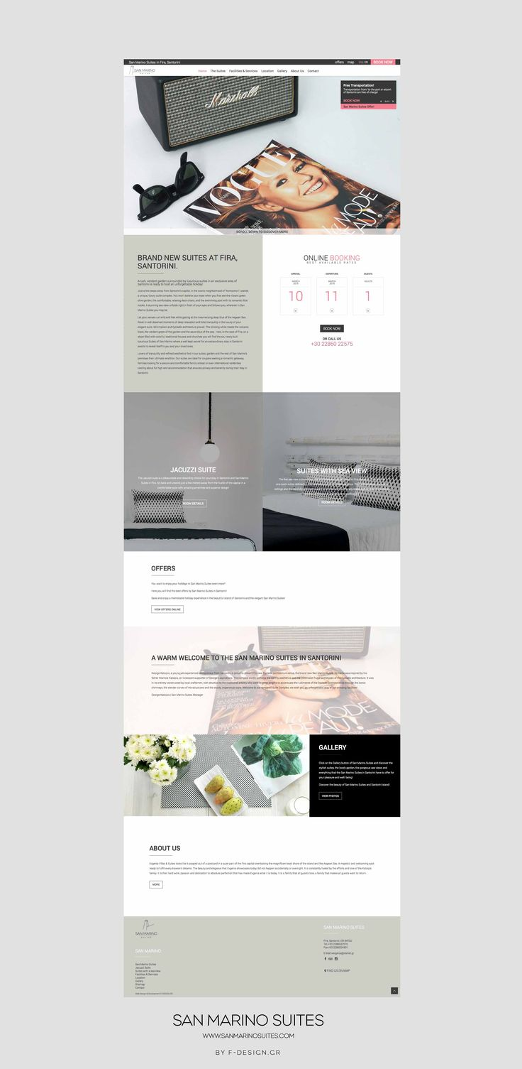 The San Marino Suites in Santorini website by F-Design! More at http://www.sanmarinosuites.com/