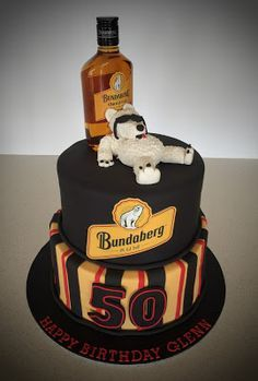 Bundaberg Rum 50th Birthday Cake