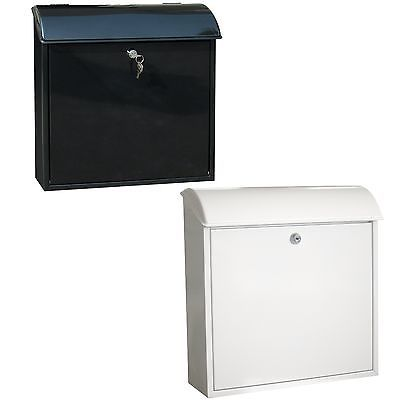 #Modern lockable mailbox outdoor mail post box #letter box black #white galvanize,  View more on the LINK: 	http://www.zeppy.io/product/gb/2/331762822304/