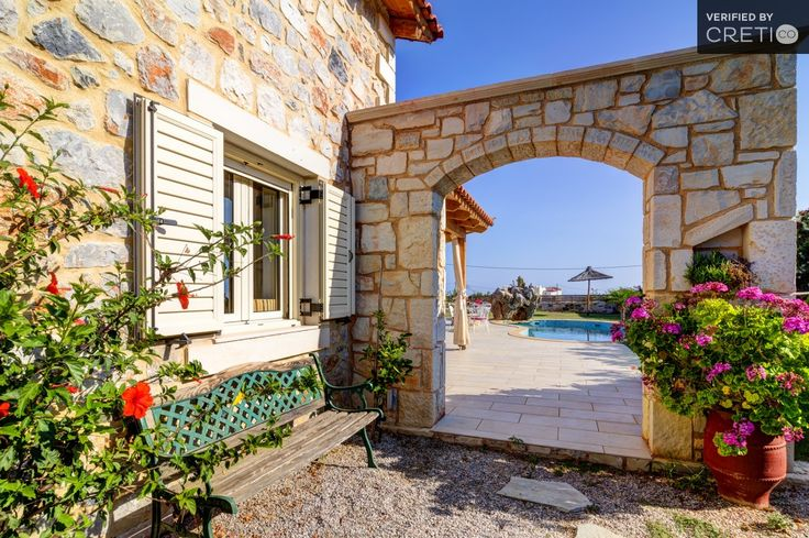 Lovely one bedroom valentine villa in a romantic garden, Chersonisos | Cretico