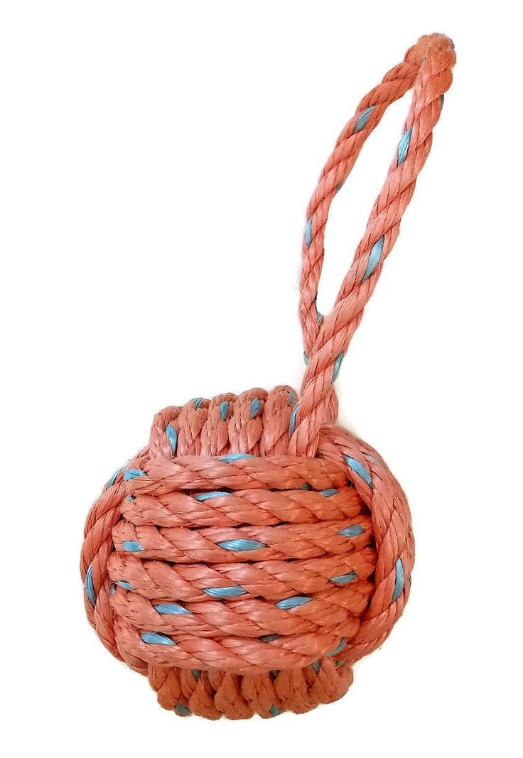 Monkeys Fist Knot Doorstop made with Reclaimed Lobster Rope
