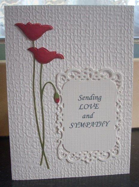Sympathy Card - prim poppy