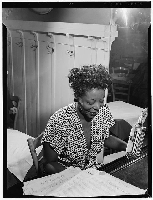 Portrait of Mary Lou Williams, New York, N.Y., ca. 1946 (LOC)  American jazz pianist and composer    Gottlieb, William P., 1917-, photographer.