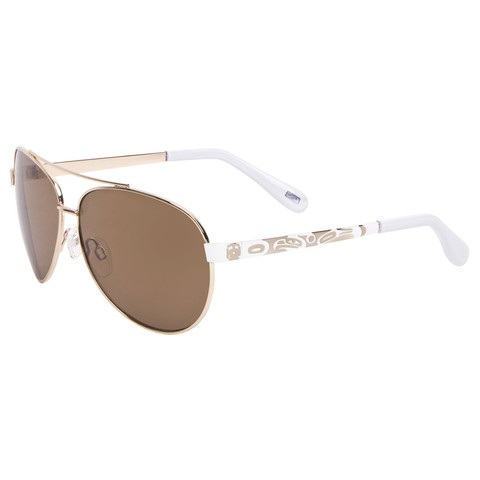 "Sunglasses - Aviator - White/Gold ""Victoria Thunderbird""Native Gift, Victoria Thunderbirds, Thunderbirds Sunglasses"
