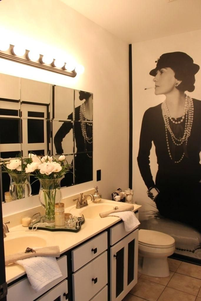 Chanel Bathroom Set Good Coco On Home Interior Decor With