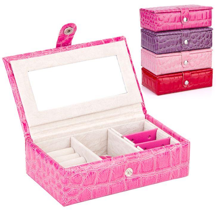Moda feminina presente titulares jóias da caixa e embalagem exibição organizador de maquiagem de couro cubóide caixão ferrolho caixas grátis frete em Exposição & embalo de jóias de Jóias no AliExpress.com | Alibaba Group