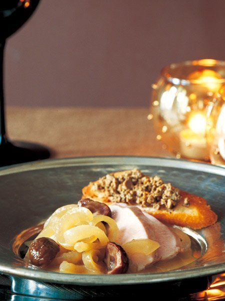 【ELLE a table】玉ねぎと甘栗のコニャック蒸しレシピ エル・オンライン