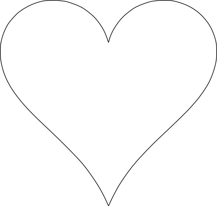 It's just an image of Sly Free Printable Heart Template