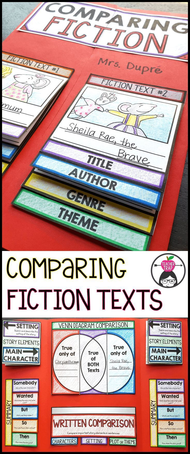 This fun little lapbook helps students think through fiction story elements and compare two fiction texts!