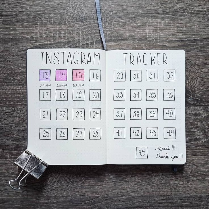 My new Instagram tracker in my Bullet Journal!  Thank you so much, 1.5k (and +) !!