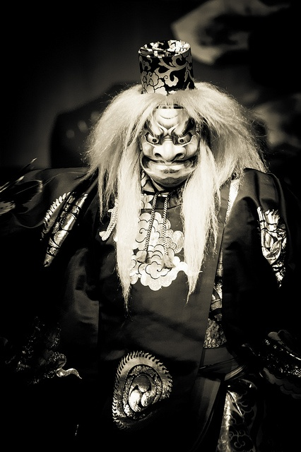 Japanese Noh theater contained ghost tales connected to Buddhist lore for warrior class, the samurai.