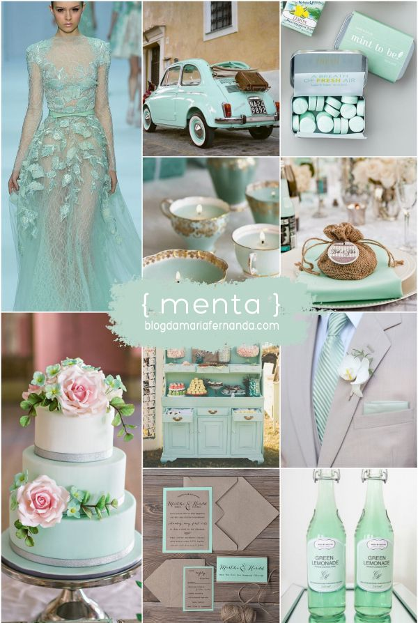 Paleta de Cores Menta | Inspiration Board Mint  mint wedding,mint,mint decor,mint cake,mint candles,mint dress,mint stationery,mint drink,mint car,casamento menta,decoração de casasamento menta,bolo menta,lembrancinha menta