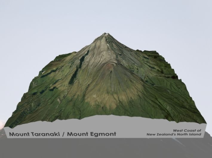 3d Map Of New Zealand.Mt Taranaki Map New Zealand 6 By Smart Mapps Consulting On 3d