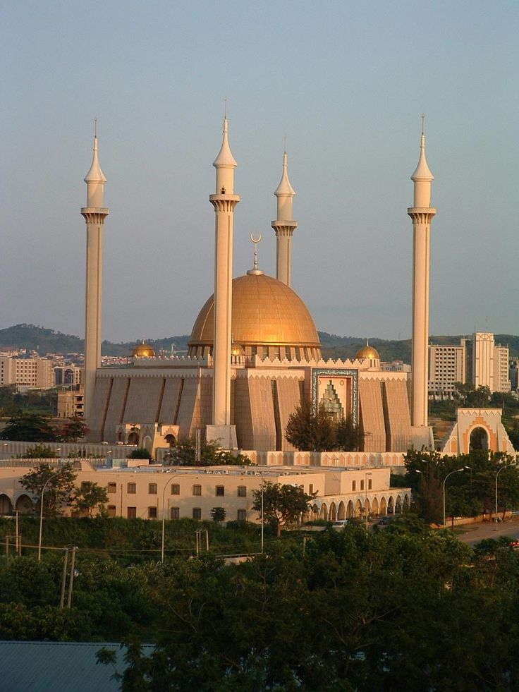 national mosque The abuja national mosque, also known as the nigerian national mosque, is the main national mosque that is located in the capital city of the federal republic of nigeria, abuja.