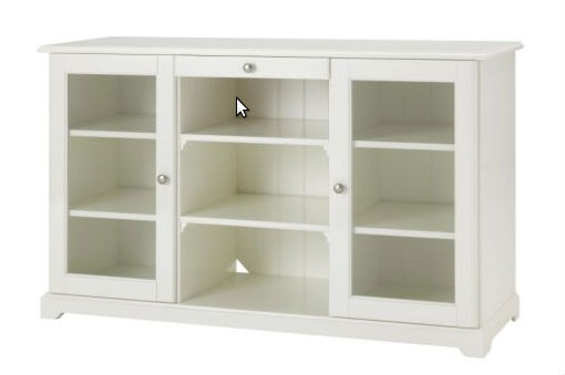 Ikea Liatorp. We have the older one with colored bead board backing, and details on the glass.