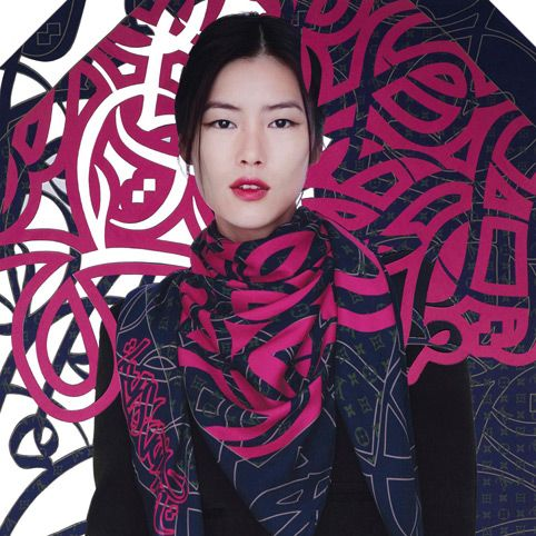 Louis Vuitton And El Seed Collaboration Calligraphy Scarf