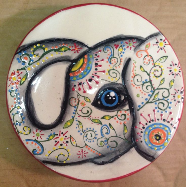 This elephant was fun to paint. I love the doodling. Paint your own pottery. unpluggits.com. Edmond, OK