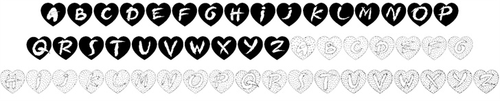 Hearts on fire font — Created in 2004 by House of Lime