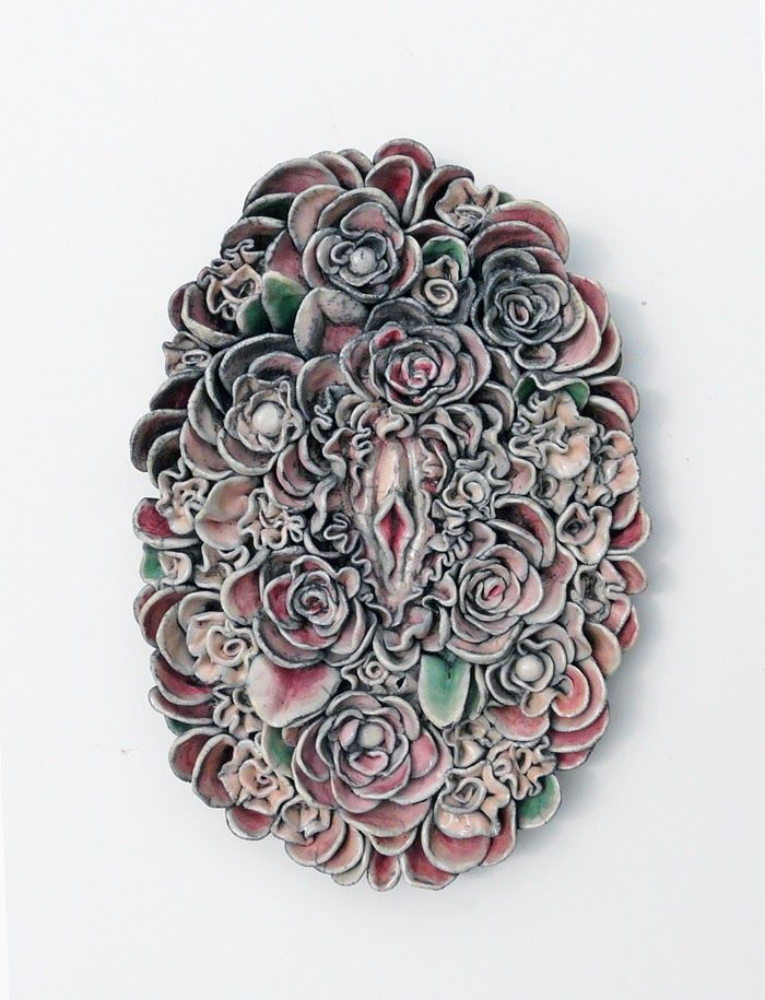 Secret garden // ceramic relief by Lidia Kostanek