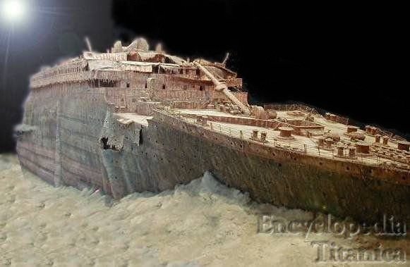 A Model Of The Bow Section Of The Titanic Wreck The R M