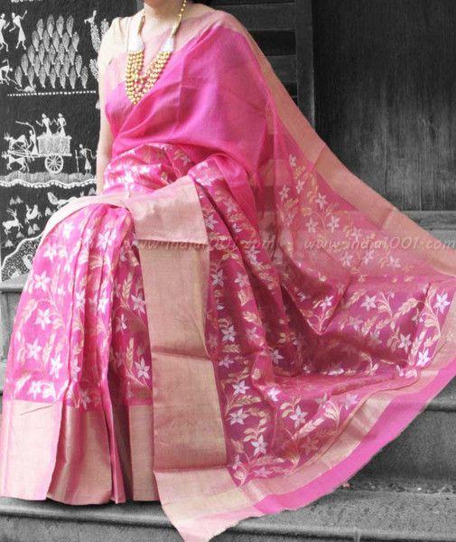 Designer Handcrafted Chanderi Saree