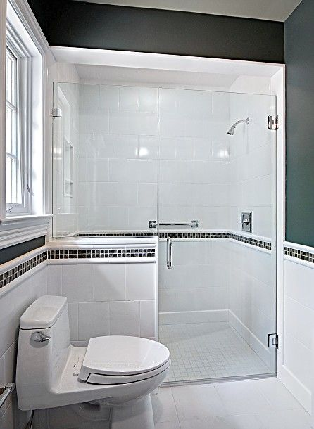 Amazing Shower With Toilet And Half Wall