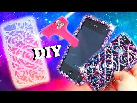 c6aac99941f DIY HOT GLUE GUN PHONE CASES l DIY HANDYHÜLLE AUS SILIKON l PatDIY -  YouTube   phone case   Diy phone case, Hot glue phone case, Glue gun