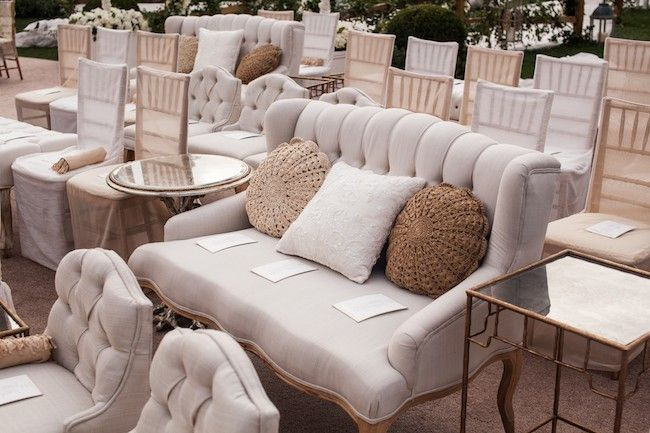 Ceremony seating for Bachelor Wedding- Sean & Catherine Lowe with Mindy Weiss on Revelry Event Designers